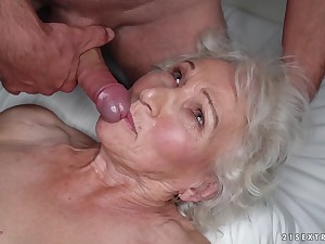 Granny Norma cheats on will not hear of sleeping husband with young stud