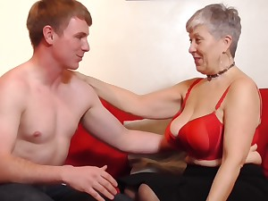Lucky granny Savana gets her cunt pounded by a alluring guy