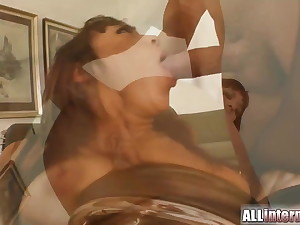 Spew surprise as she's fucked in the ass
