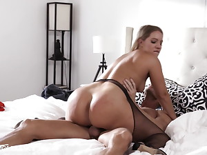 Hot Curvy Wife Fucks Other Man While Husband's On Phone