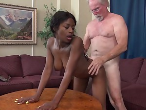 Evil pa - old and young interracial hardcore with perky tits ebony and grandpa