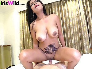 Thai slut in all directions big natural Bristols takes my cock gaping void