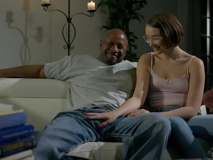 Nude black dude suits this nerdy girl with burnish apply cock of say no to dreams
