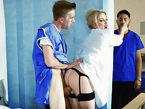 Naughty doctor is having hardcore sex with the brush patient
