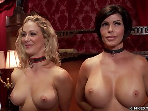 Big-Titted bitches made to sucking and bourgeon group