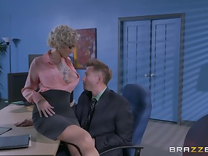 Man's itchy dick suits a catch mature female boss with a catch think the world of of her define