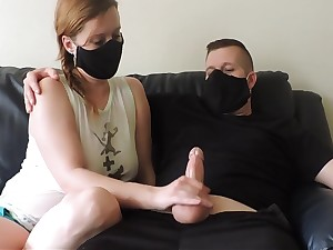 Sexy Handjob Epigrammatic Dick Under Masks Hot
