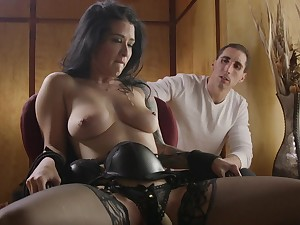 Submissive brunette roughly fucked in excellent cuckold scenes