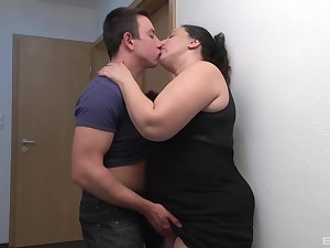 The moves this fat auntie has drives the guy insanely horny