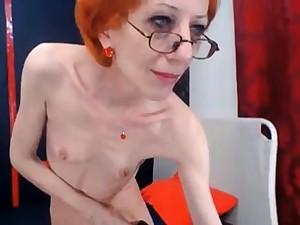 amazing skinny gilf fucks her dildo reckoning up