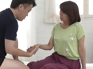 Proper nude porn involving a fine ass Japanese mature and her nephew