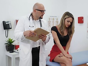 Pussy search for Athena Faris is turned into wild sex with turned in the sky doctor