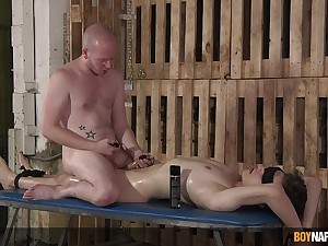 Twinks share flaked-out oral fun in maledom XXX