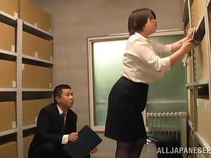Nice fucking in the office with a cock hungry Japanese coworker