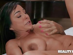 Hardcore sex with massuer and Aubrey Black