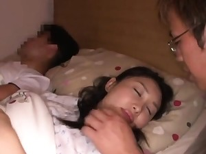 Close up Asian sex scene with cunt around her dick