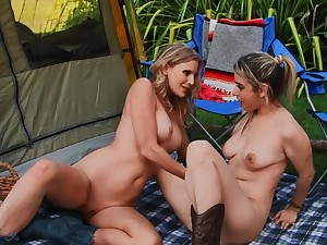 Camping trip can't gorge without lesbian sex fun