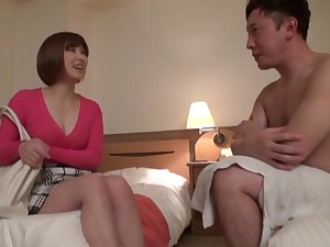 Lovely Hakii Haruka with big tits riding a dick everywhere the bedchamber