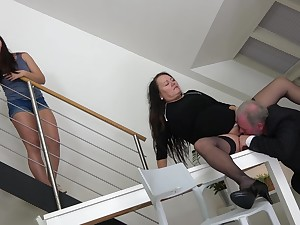 Man is wry connected with fuck this chubby mature and her young niece