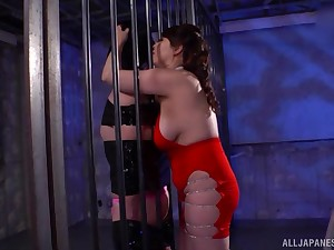Fucking between a leading lady slave and inner Japanese Kazama Yumi