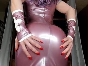 Sexy Impenetrable close to Purple Latex Glad rags Tease